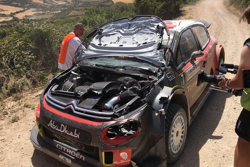После аварии: Citroën C3 WRC Криса Мика