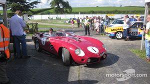 Dino at home in classic Ferrari's