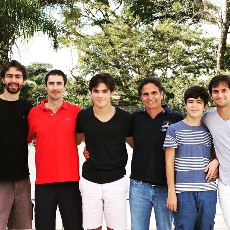 Laszlo, Geraldo, Pedro, Nelson, Marco e Nelsinho Piquet