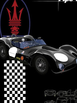 Maserati, sports car, birdcage, classic, historic