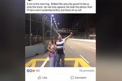 Invasão de pista em Cingapura