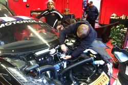 Serious repair work going on after Race #1