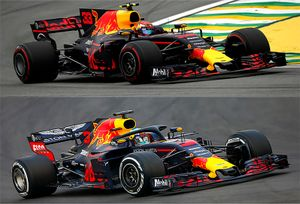 Comparación Red Bull Racing 2017-2018