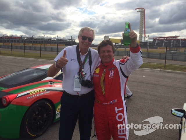 Stewart Chubb & Peter Mann share some cheer!
