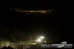 Night over Hammertown as a competitor makes his way up Chocoalte Thunder