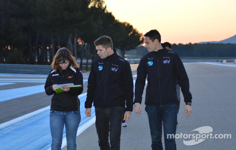 Gregoire Akcelrod and Yannick Mettler,  QI Racing. Formula Renault 2.0 Testing