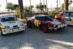 Excellent Historic rally car display in Salou