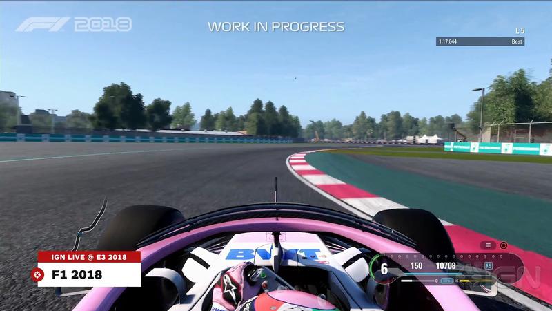 Вид с бортовой камеры в F1 2018 с Halo