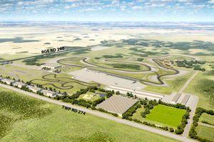 The proposed Rockyview Motorsports Park near Calgary, Alberta, Canada