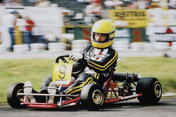 Ayrton Senna in his 1981 DAP Kart