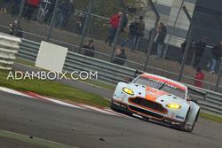 Aston Martin takes some kerb at Copse