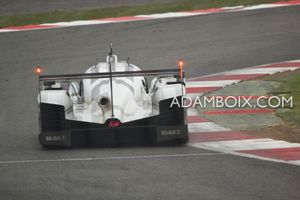 View of the back of the Porsche at Becketts