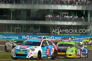 Plato leads the back infront of the BRDC