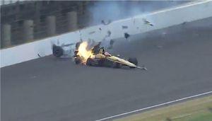 L'accident de James Hinchcliffe à Indianapolis