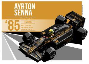 Ayrton Senna - 1985 Estoril