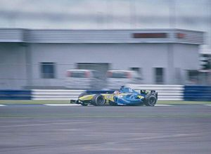 Fernando Alonso, Silverstone 2004. Ektachrome Pro slide