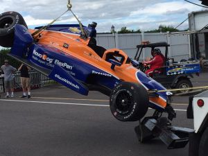 Accidente de Charlie Kimball, Chip Ganassi Racing Chevrolet