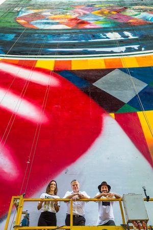 Bianca Senna, Jorg Hofmann e Eduardo Kobra