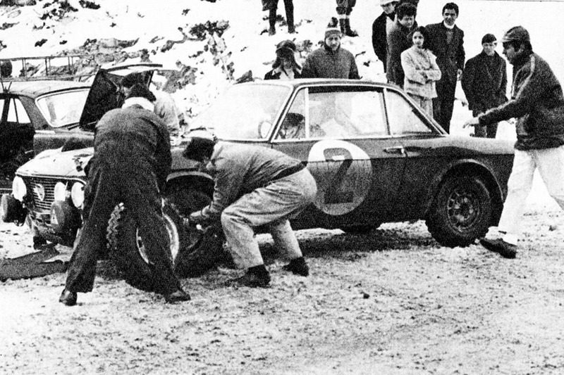 Пит-стоп Рауно Аалтонена и Генри Лиддона, Ралли Монте-Карло 1969 года