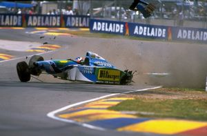 Михаэль Шумахер, Benetton, авария