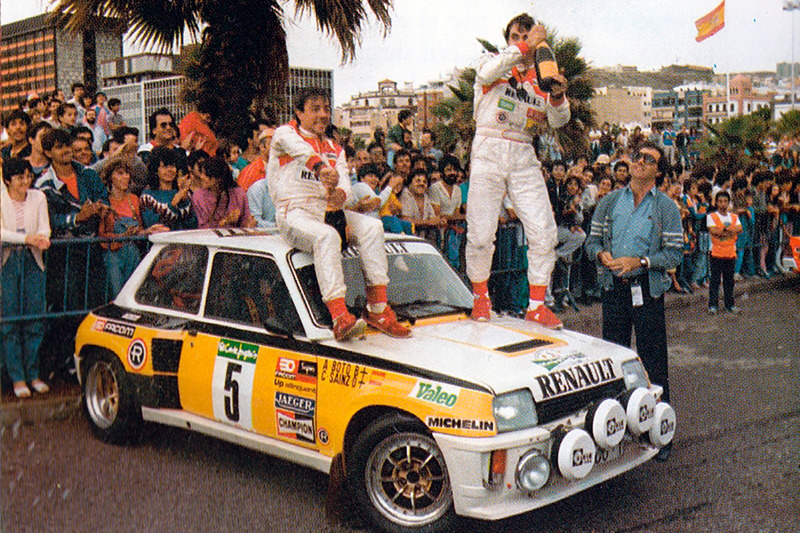 Карлос Сайнс и Антонио Бото, Ралли El Corte Inglés 1985 года, Renault 5 Turbo