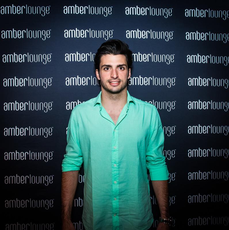 Carlos Sainz en la Amber Lounge de Mónaco