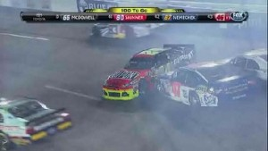Big Crash In The Backstretch - Richmond International Raceway 2011
