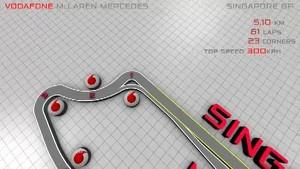 Vodafone McLaren Mercedes - Take a lap around Singapore