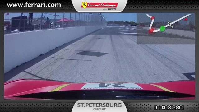 Ferrari 458 Challenge On-Board-Kamera: Carlos Kauffmann in St. Petersburg