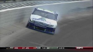 Casey Mears Makes Wall Contact - Chicago - 09/16/2012