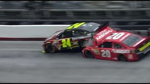 Jeff Gordon blows a tire and collects Matt Kenseth at Bristol