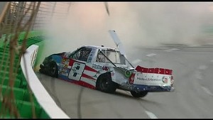 Max Gresham slams the wall | UNOH 225 Kentucky NASCAR