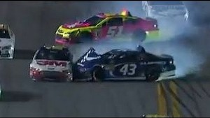 Aric Almirola Crashes   Coke Zero 400, Daytona