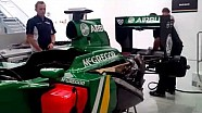 Caterham F1 engine fire-up for Goodwood Festival of Speed