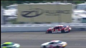 NASCAR David Reutimann hits the wall | Michigan International Speedway (2013)