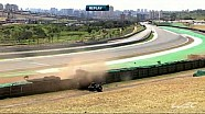 Crash between the #8 Toyota and the #32 Lotus at the WEC 6 Hours of Sao Paulo
