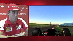 United States GP - A track lap with Fernando Alonso