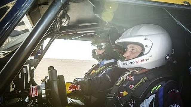 The Red Bull SMG Rally Team takes a rally buggy drive through the dunes