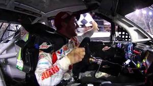 NASCAR | In-car camera of Dale Earnhardt Jr. Daytona 500 win