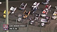 Highlights: World of Outlaws STP Sprint Cars Salina Highbanks Speedway April 25th, 2014