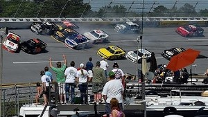 Bayne instigates multi-car crash