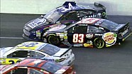 Heavy Impact Between Truex & Cassill During Crash - 2014 NASCAR Kansas