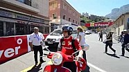 Räikkönen struggles to enter paddock on his scooter - 2014 Monaco GP