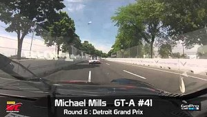 Detroit 2014 - Michael Mills On Board Highlights of Round 6 GT-A