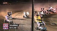 Highlights: World of Outlaws STP Sprint Cars I-96 Speedway May 31st, 2014