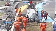 Loic Duval Crashes - Le Mans 2014 Free Practice