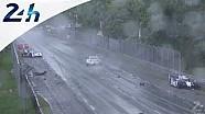 Le Mans 2014: crash in the rain Toyota No. 8 and No. 3 Audi