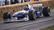 Legend Damon Hill in Williams F1 FW18 | Festival of Speed 2014