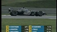 Dramatic start of the Formula one 2001 Kuala Lumpur Grand Prix