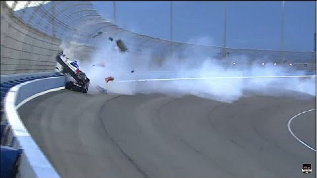 Massive crash of Mikhail Aleshin at Fontana
